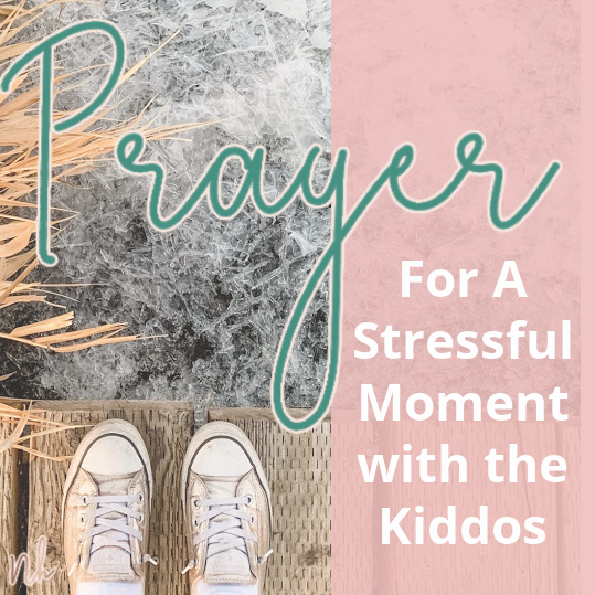 Prayer For A Stressful Moment with the Kiddos